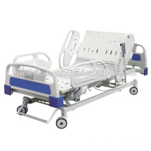 ABS Guardrail 3 Function Adjustable Hospital Electric ICU Bed With Soft Connection